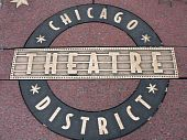 Chicago Theater District Plaque