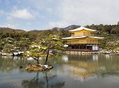 Beautiful Golden Pavilion Kinkaku-ji