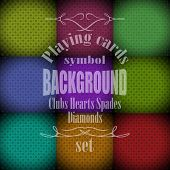 Playing, Poker, Cards Symbol Background Set Sample Text
