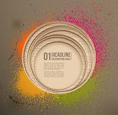 Paper hole & Spray paint. Design element