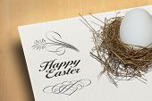 Happy Easter Decorative Background