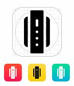 Smart watch back view icon.
