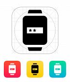 Password in smart watch icon.