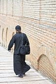 Young Ortodox Monk In Black Cassock