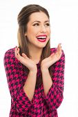 Attractive woman laughing