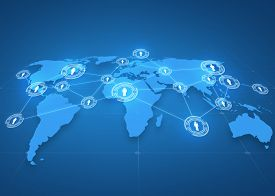 picture of network  - global business - JPG