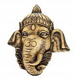 stock photo of ganesh  - Sculpture of Ganesh isolate on white background - JPG