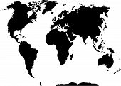 picture of atlas  - World map black and white - JPG
