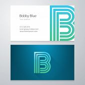 pic of letter b  - Design icon letter B Business card template - JPG