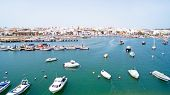 foto of lagos  - Aerial from the harbor in Lagos Portugal - JPG