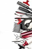 pic of bobbies  - the Professional hairdresser tools isolated on white - JPG
