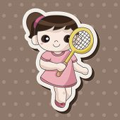 picture of badminton player  - Badminton Player Theme Elements - JPG