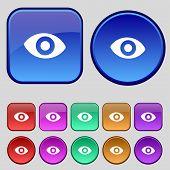 picture of senses  - sixth sense the eye icon sign - JPG