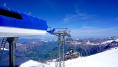 stock photo of tit  - station of cable car snow mountains Titlis Engelberg Switzerland - JPG