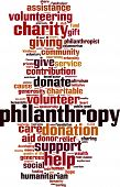 stock photo of word charity  - Philanthropy word cloud concept - JPG