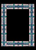 Border Made Of Stained Glass With Floral Motifs With Clipping Path