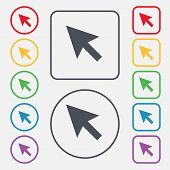 picture of mouse  - arrow cursor computer mouse icon sign - JPG