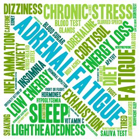 foto of fatigue  - Adrenal fatigue word cloud on a white background - JPG