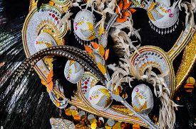 picture of venice carnival  - Traditional Carnival Venice mask with Colorful Decoration - JPG