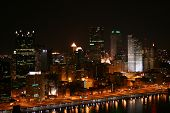 Night In Downtown Pittsburgh