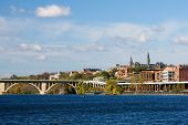 stock photo of rosslyn  - View from Potomac river - JPG