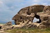 Rock In Shape Of Men's Profile. 3,000 Years Old Cave City Uplistsikhe. Georgia.