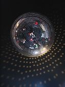 The Mirror Sphere Hanging In A Night Club. The Bottom View.