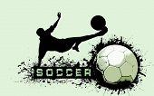 Постер, плакат: Фон грандж футбольный мяч