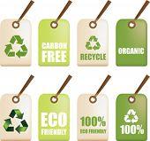 illustration labels as part of a eco friendly set