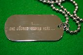 Dogtags With The Journey Begins Here Message