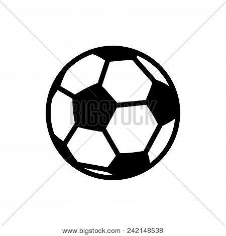 Soccer Ball Vector Icon Flat
