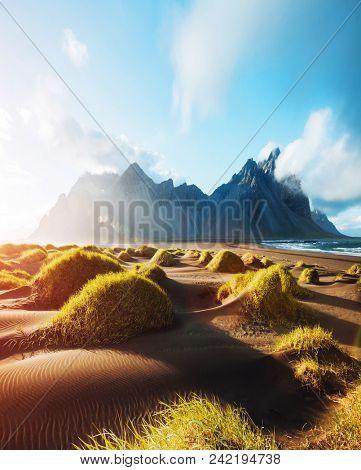 Majestic landscape on sunny day
