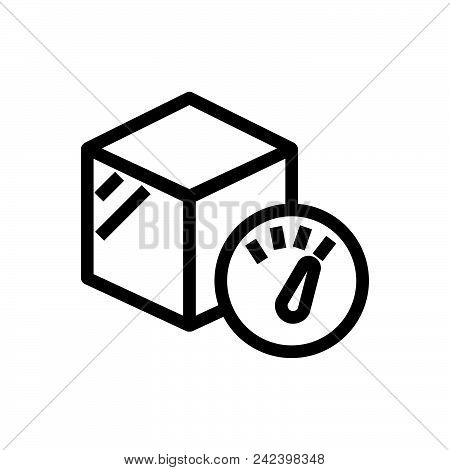 poster of Package Weight Outlined Symbol Of Cargo Weight. Package Weight Icon. Package Weight Icon. Package We