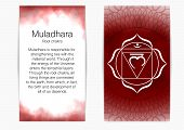 First, Root Chakra - Muladhara. Illustration Of One Of The Seven Chakras. The Symbol Of Hinduism, Bu poster