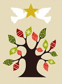 Peace And Love Christmas Tree Design Idea