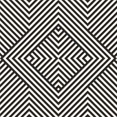 Vector Geometric Lines Seamless Pattern. Modern Linear Background With Diagonal Stripes, Squares, Ch poster