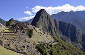 Panorama Of Machu Pichu With Huayna Picchu
