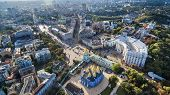 Aerial View On Centre Of Kyiv poster