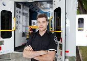 image of ambulance  - Portrait of a male Ambulance Personal - JPG