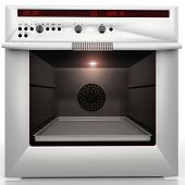 picture of convection  - inside a great and white convection oven - JPG