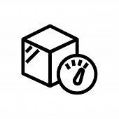 Package Weight Outlined Symbol Of Cargo Weight. Package Weight Icon. Package Weight Icon. Package We poster