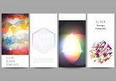 The Minimalistic Abstract Vector Illustration Of The Editable Layout Of Four Modern Vertical Banners poster