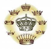 antiguo conjunto de corona