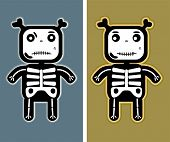 illustration - funny child bones