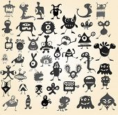 picture of ogre  - Many cute doodle monsters - JPG