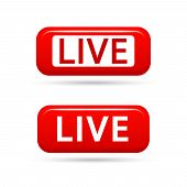 Live Streaming Vector Signs Isolated On White Background. Live Tv Broadcasting. Live Video Streaming poster