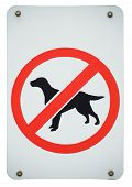 Forbidden Dogs Sign
