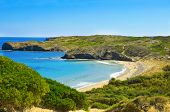 Cala de en Tortuga beach in Menorca, Balearic Islands, Spain