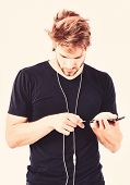 Radio Wave. Pop Music. Mp3 Player Concept.enjoy Sound Headphones. Music Gadget. Musical Accessory Ga poster