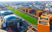 Aerial View Of Modern Apartment Residential Building Architecture Potsdamer Platz Reflex poster